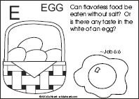 Bible Verse Coloring Page with the Letter E