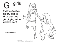 Bible Verse Coloring Page with the Letter G