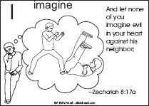 Bible Verse Coloring Page with the Letter I