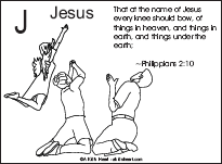 Bible Verse Coloring Page with the Letter J