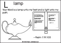 Bible Verse Coloring Page with the Letter L