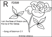 Bible Verse Coloring Page with the Letter R