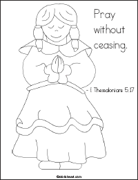 Coloring Page I Thessalonians 5:17