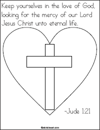 Jude 1:21 Bible Verse Coloring Page