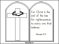 Printable Coloring Page Romans 10:4