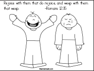 Coloring Page for Bible Verse