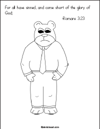 Printable Coloring Page Romans 3:23
