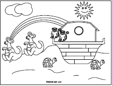 A thumbnail of the Bible coloring page Noah and the ark