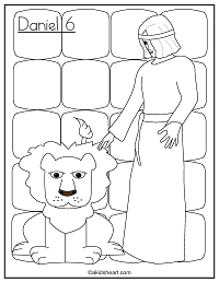 Coloring Page of Daniel in the Lion's Den
