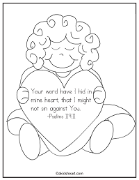 A Bible verse coloring page for Psalms 119:11