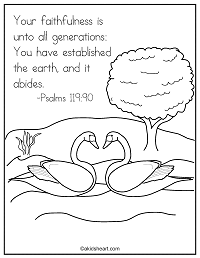 Coloring Page for Bible verse Psalms 119:90