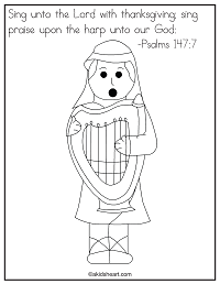 Psalms 147:7 Coloring Page