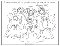 Psalms 148:2  Coloring Page