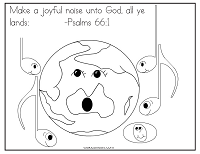 Psalms 66:1 Coloring Page