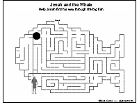 A maze activity with Jonah and the whale