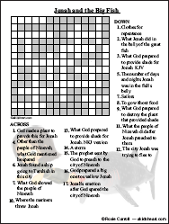 A crossword puzzle about the Bible book of Jonah