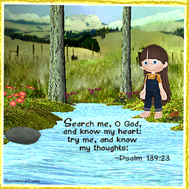 Bible Verse Card Psalm 139:23