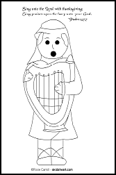 Psalm 92:1 Coloring Page