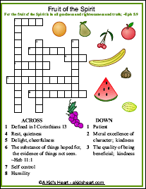 The Fruits of the Spirit Crossword Puzzle