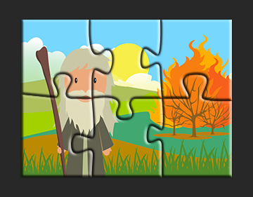 Moses and the Burning Bush Jigsaw Puzzle